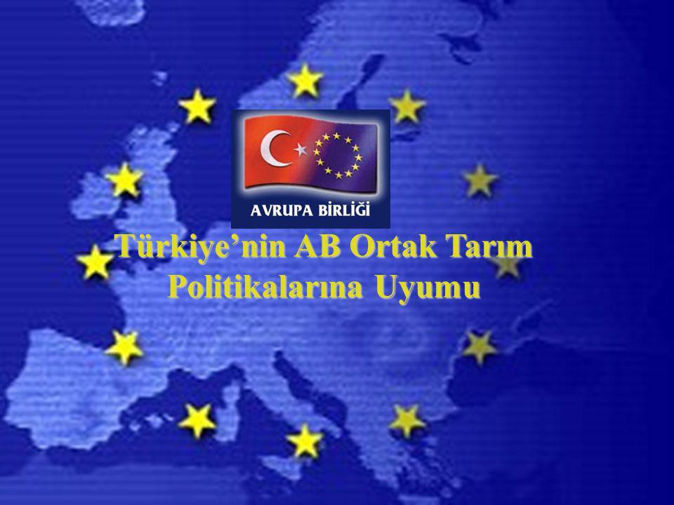 Türkiye'nin AB Ortak Tarım Politikalarına Uyumu