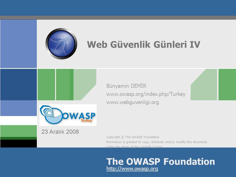 2 İçerik  OWASP  Nedir. Projeler  WGT  Biz Kimiz.
