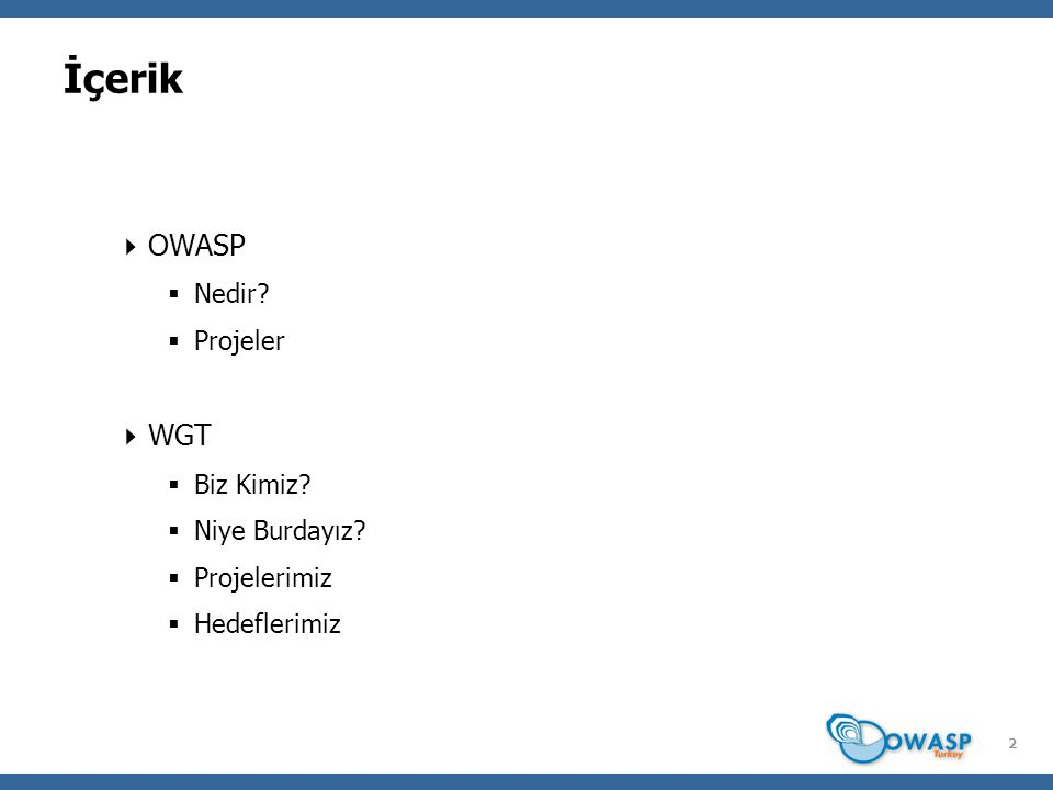 3 OWASP – Nedir.