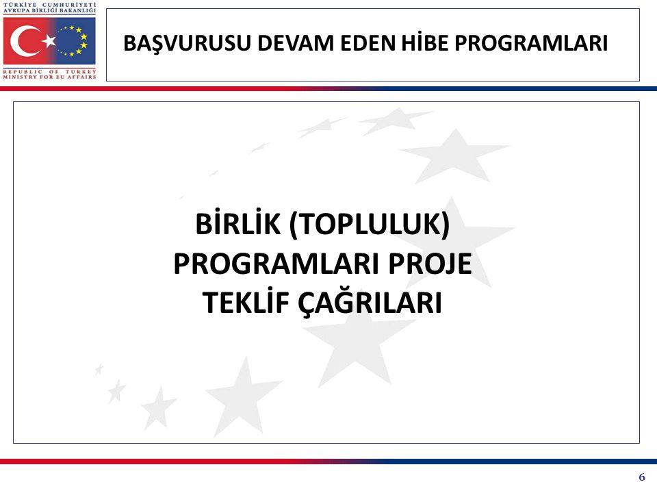 27 BAŞVURUSU DEVAM EDEN HİBE PROGRAMLARI KALKINMA AJANSLARI PROJE TEKLİF ÇAĞRILARI Doğu Akdeniz Kalkınma Ajansı Doğrudan Faaliyet Mali Destek Programı Doğrudan Faaliyet Mali Destek Programının genel amacı; yerel ve bölgesel kalkınmaya katkı sağlayacak olan stratejik araştırma, planlama ve fizibilite çalışmalarına destek sağlamaktır.