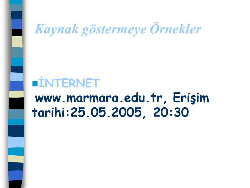 """Kaynak göstermeye Örnekler MAKALE den Alıntıda Gürdal, A., Şahin, F., Bayram, H. (1999). """"İlköğretim Öğretmen Adaylarının Enerji Konusunda Bütünlüğü S"""