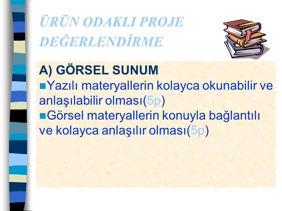Poster Hazırlama Sözlü Sunum Öğrenci; –Amacını ve çalışmasını net olarak ortaya koyabilmeli –Sunumda kendinden emin olmalı –Süreyi etkin kullanabilmel