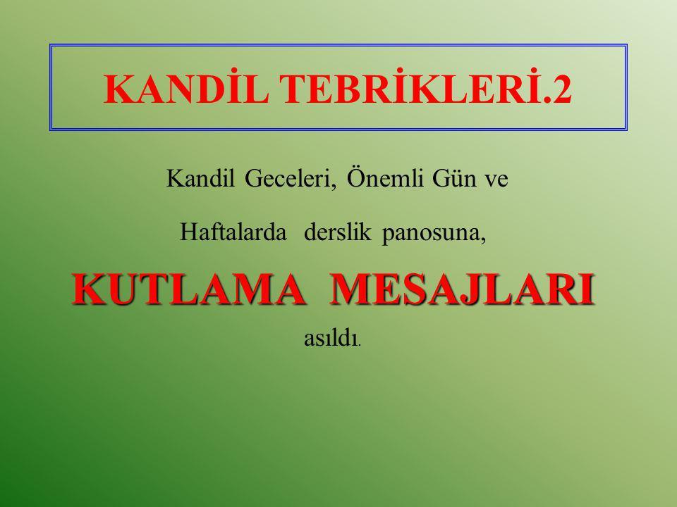 PEYGAMBERİMİZ (AS)İN HAYATI KİTABI.13 A.Cevdet Paşa tarafından yazılıp, Mahir İz tarafından sadeleştirilen, M.Ertuğrul Düzdağ tarafından neşredilen Peygamber Efendimiz(SAV) isimli eser(*), maliyet fiyatına (1.5 YTL) temin edilerek 450 adet öğrenciye ulaştırıldı.
