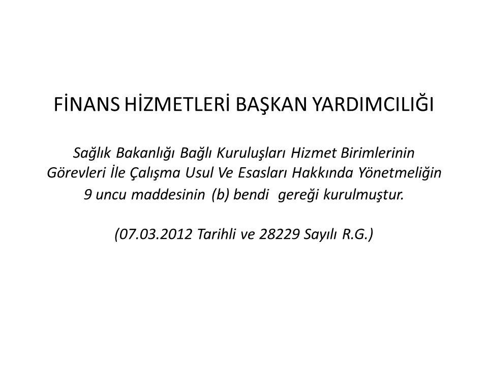 9 ) DÖNER SERMAYE MERKEZ İŞLETMESİNE AİT İŞLEMLERİ YÜRÜTMEK Türkiye Kamu Hastaneleri Kurumu merkezine döner sermaye kaynaklarından yapılan her türlü giderlerin gerçekleştirilmesi, taşra teşkilatına Genel Bütçe kaynaklarından yapılan giderlerin gerçekleştirilmesi iş ve işlemleri Daire Başkanlığımızca yürütülmektedir.