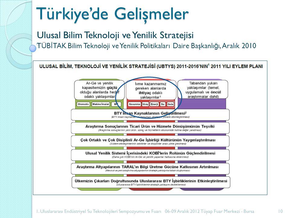 Türkiye'de Gelişmeler Ulusal Bilim Teknoloji ve Yenilik Stratejisi TÜB İ TAK Bilim Teknoloji ve Yenilik Politikaları Daire Başkanlı ğ ı, Aralık 2010 1.