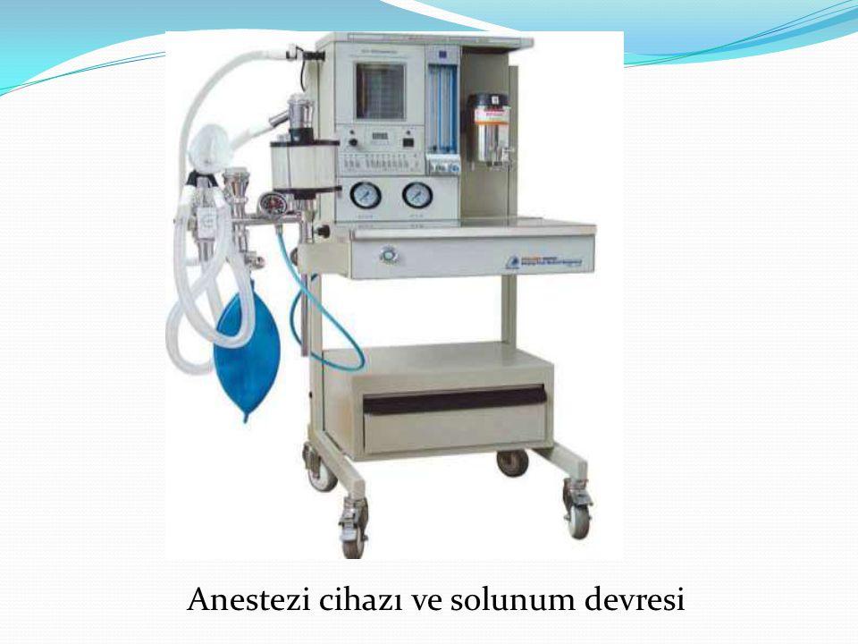 Anestezi cihazı ve solunum devresi