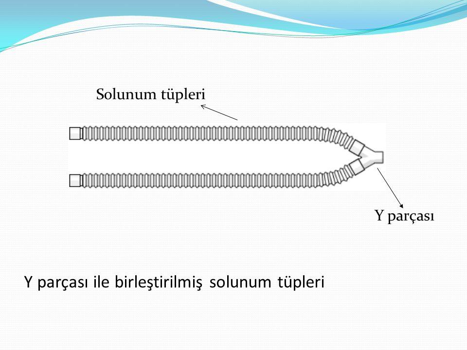 Y parçası ile birleştirilmiş solunum tüpleri Y parçası Solunum tüpleri