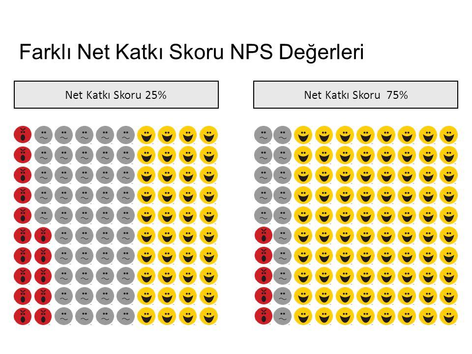 Farklı Net Katkı Skoru NPS Değerleri Net Katkı Skoru 25%Net Katkı Skoru 75%