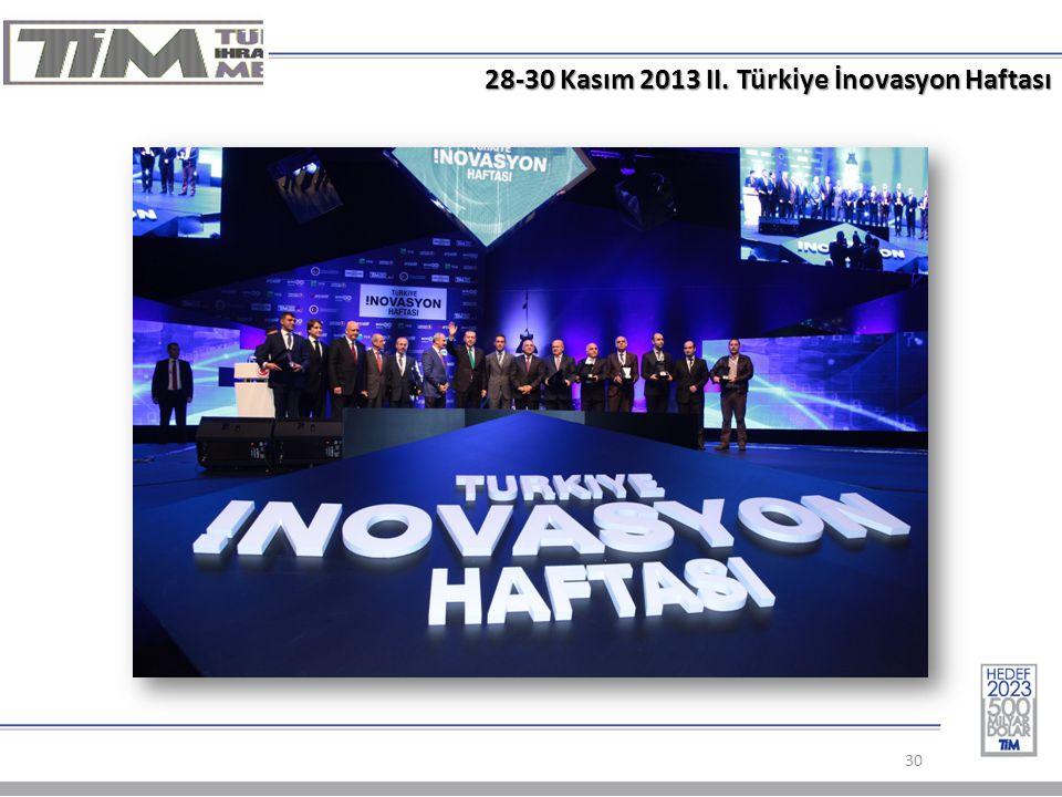 28-30 Kasım 2013 II. Türkiye İnovasyon Haftası 30