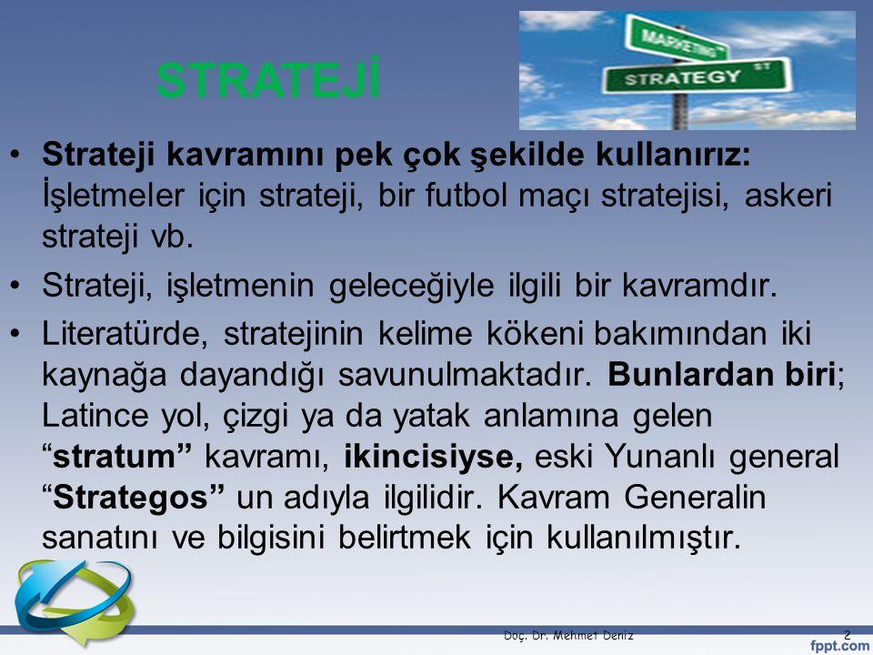 Strateji kavramını pek çok şekilde kullanırız: İşletmeler için strateji, bir futbol maçı stratejisi, askeri strateji vb.