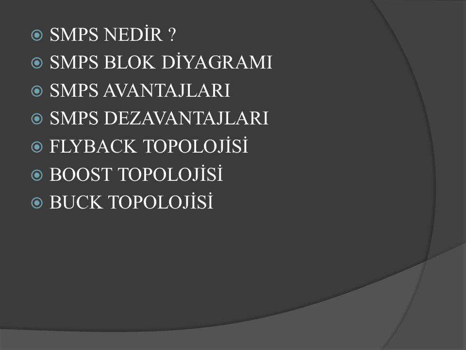 SMPS NEDİR .Smps elektronik bir güç kaynağıdır.