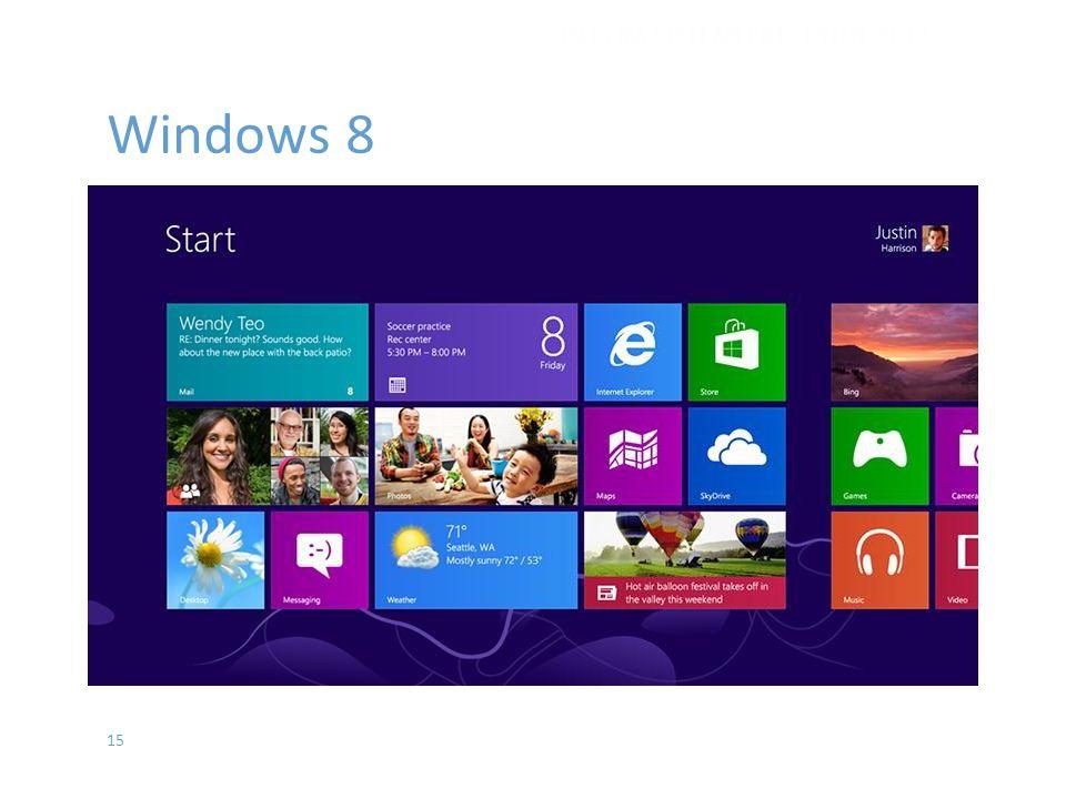 15 Windows 8 İŞLETİM SİSTEMLERİ - EYLÜL 2012