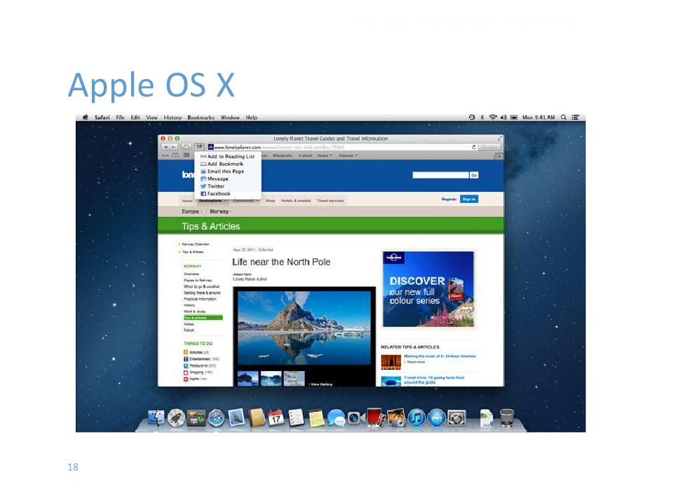 18 Apple OS X İŞLETİM SİSTEMLERİ - EYLÜL 2012