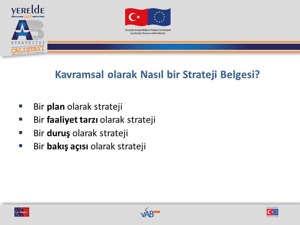 Kavramsal olarak Nasıl bir Strateji Belgesi.