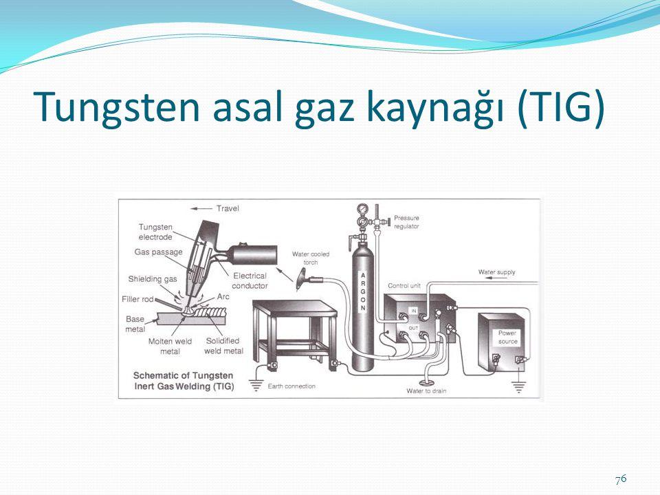 Tungsten asal gaz kaynağı (TIG) 76