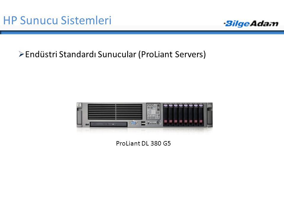 HP Sunucu Sistemleri  Endüstri Standardı Sunucular (ProLiant Servers) ProLiant DL 380 G5