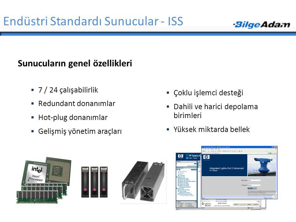 Sunucu Donanımları  Adresleme  Xeon ve Opteron işlemciler (32 bit'lik işletim sistemi ve uygulamalar ile)  32-bit adresleme  36-bit PAE (işletim sistemi desteği ile)  Xeon ve Opteron işlemciler (64-bit'lik işletim sistemi ve uygulamalar ile)  40-bit fiziksel bellek  48-bit sanal bellek