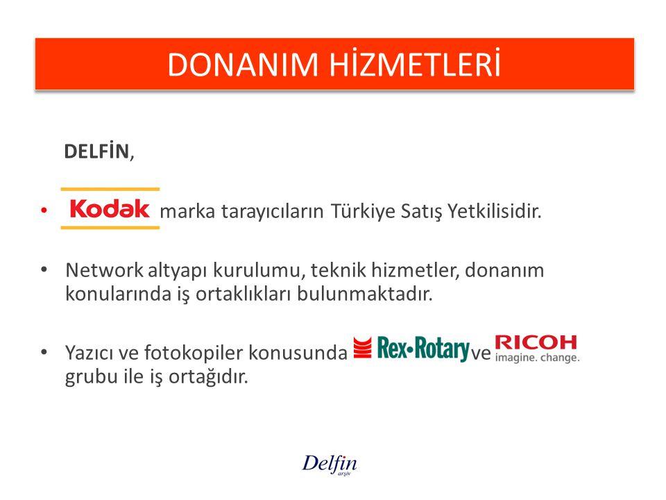 DELFİN, marka tarayıcıların Türkiye Satış Yetkilisidir. Network altyapı kurulumu, teknik hizmetler, donanım konularında iş ortaklıkları bulunmaktadır.
