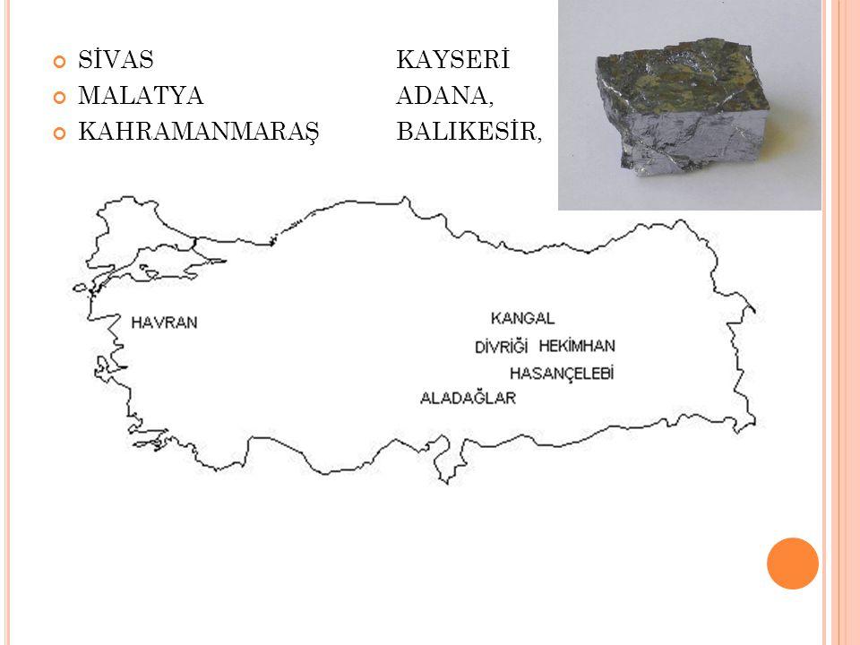 SİVAS KAYSERİ MALATYAADANA, KAHRAMANMARAŞBALIKESİR,