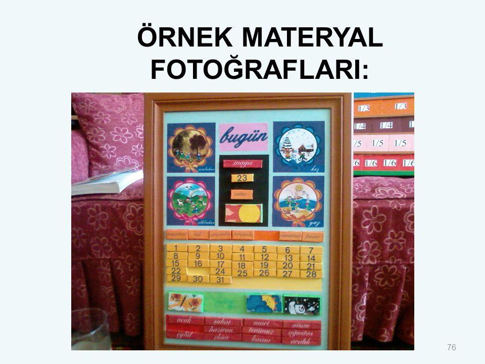 76 ÖRNEK MATERYAL FOTOĞRAFLARI: