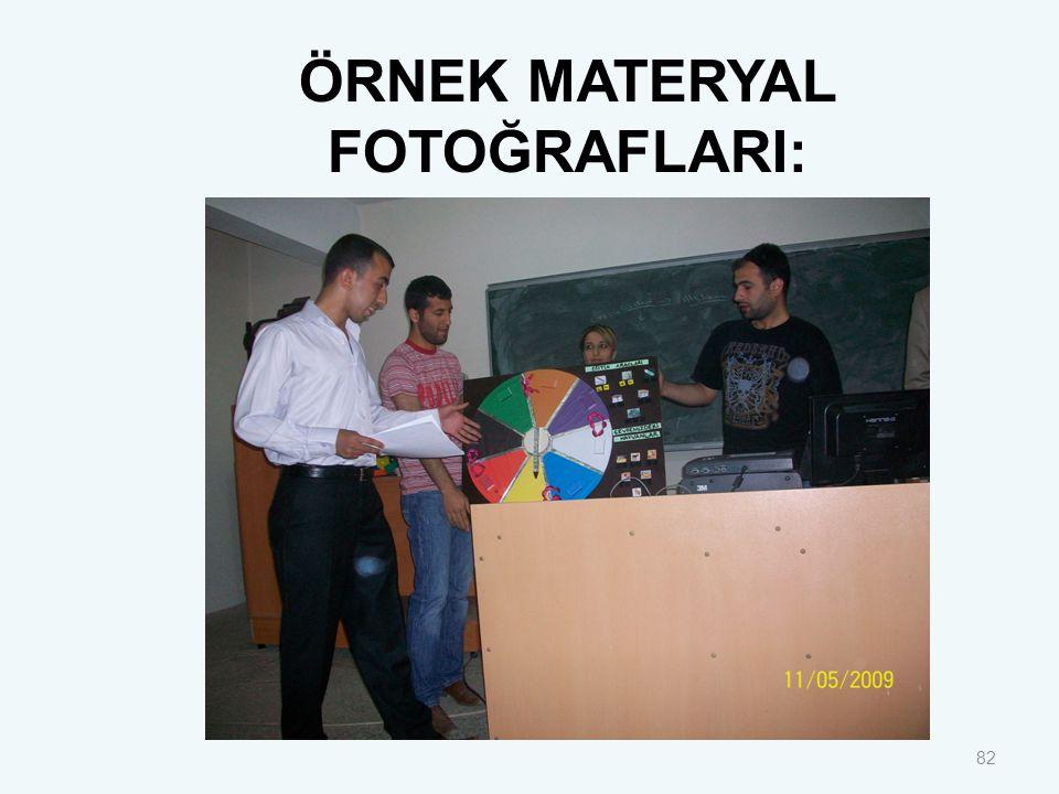82 ÖRNEK MATERYAL FOTOĞRAFLARI: