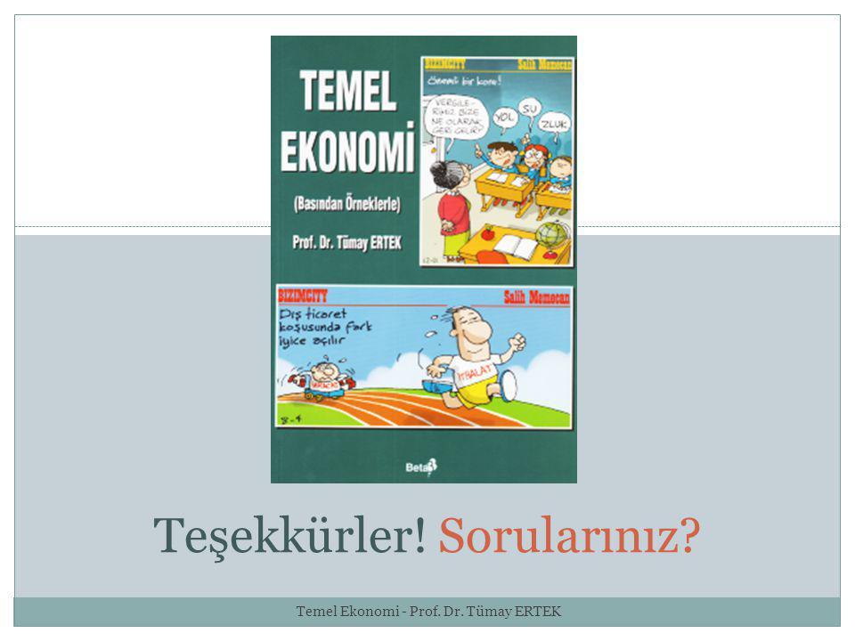 20 Teşekkürler! Sorularınız? Temel Ekonomi - Prof. Dr. Tümay ERTEK