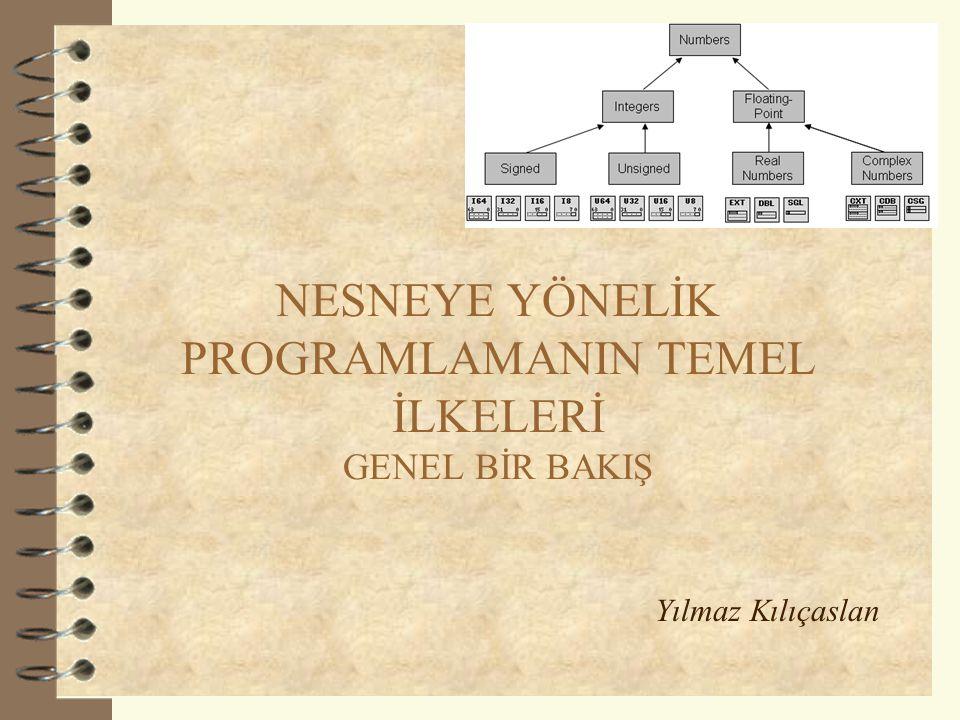 Sunum Planı  Bir önceki derse bağlantı  Programlama yaklaşımları  Nesneye-Yönelik Programlamanın İlkeleri –Soyutlama –Saklama –Kalıtım –Çok biçimlilik 2 SINIF SINIF HİYERARŞİSİ