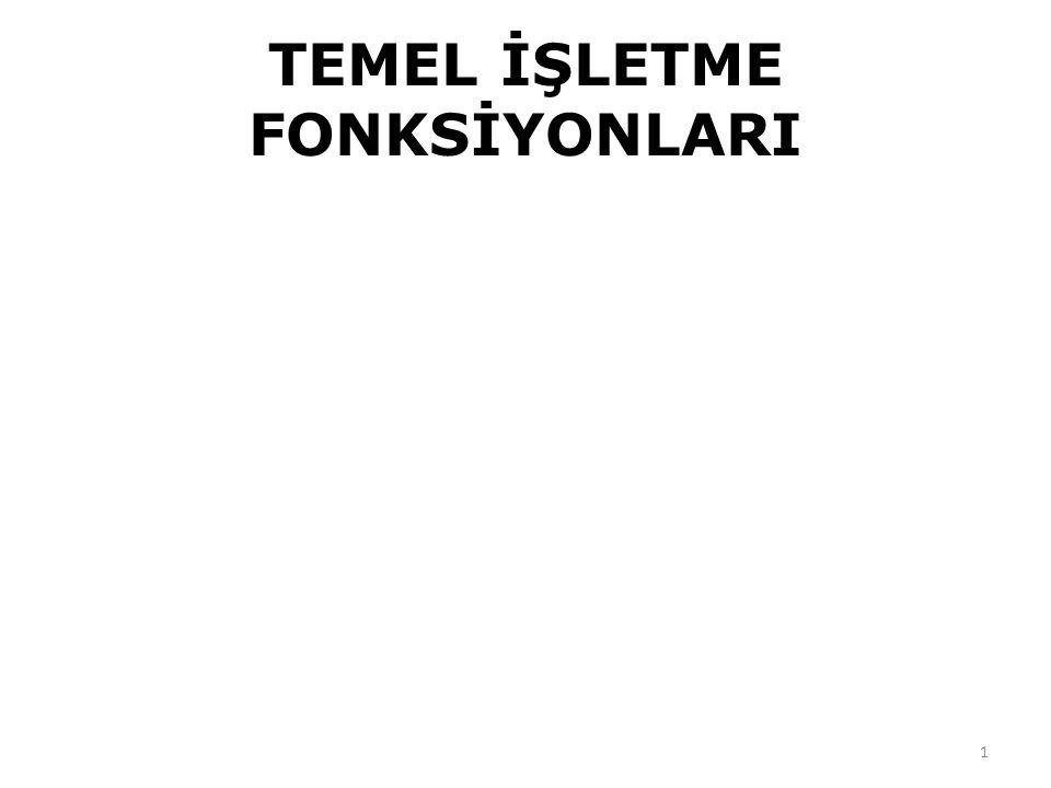 TEMEL İŞLETME FONKSİYONLARI 1