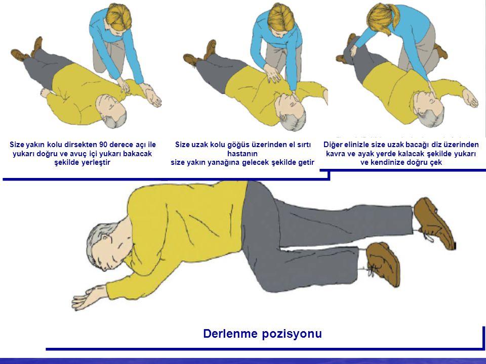 Solunum normal Derlenme (Recovery) pozisyonuna al Yardım iste Solunumun kontrolü Derlenme (Recovery) pozisyonuna al Yardım iste Solunumun kontrolü Der