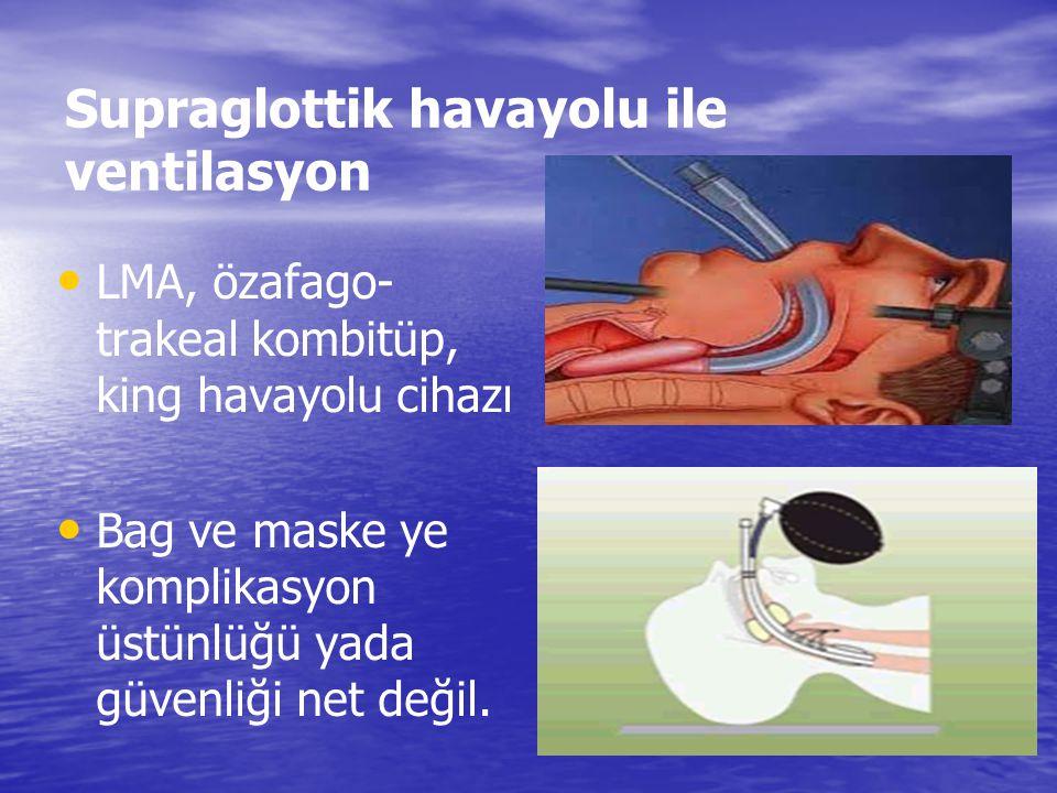 – Ağız açılmıyorsa – Ciddi ağız yaralanması varsa – Batın aşırı distandü ise AĞIZDAN BURUNA ….