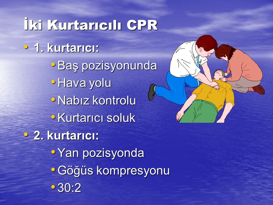Her kurtarıcı solunum 1 sn içinde verilmelidir (Class 2a). Bu öneri tüm kurtarıcılar için geçerlidir. Her kurtarıcı solunum, göğsü yükseltmelidir (kur