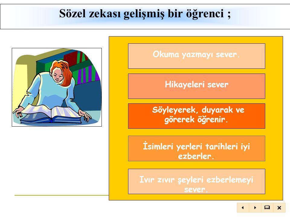 TANIM: Sözcükler zekâsı ya da bir dilin temel işlemlerini açıkça kullanabilme yeteneğidir.