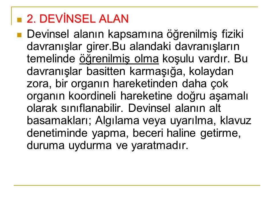 Örnek HedeflerBilişsel Alan 12.