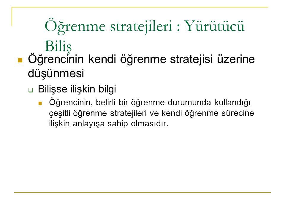 Öğrenme stratejileri : Anlamlandırma Özetleme  Metindeki önemsiz bilgiyi belirlemek ve çıkarmak.  Metindeki ana düşünceyi belirlemek ve kendi sözcük