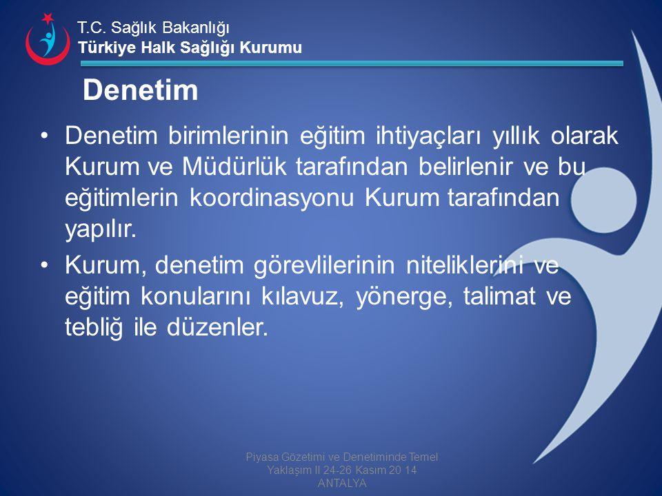 T.C. Sağlık Bakanlığı Türkiye Halk Sağlığı Kurumu Denetim Denetim birimlerinin eğitim ihtiyaçları yıllık olarak Kurum ve Müdürlük tarafından belirleni