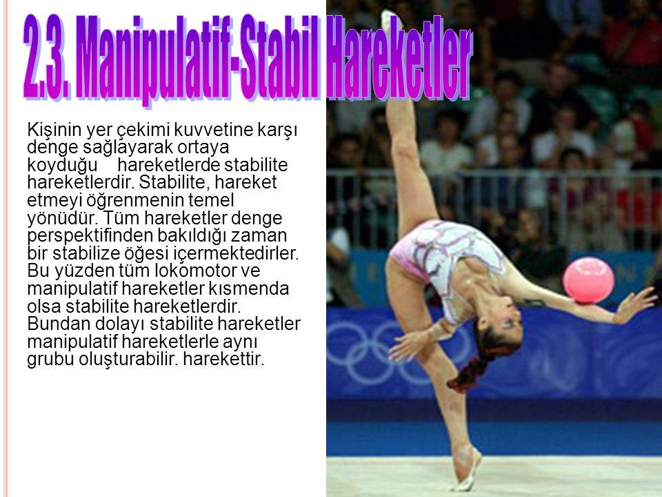 Kişinin yer çekimi kuvvetine karşı denge sağlayarak ortaya koyduğu hareketlerde stabilite hareketlerdir. Stabilite, hareket etmeyi öğrenmenin temel yö