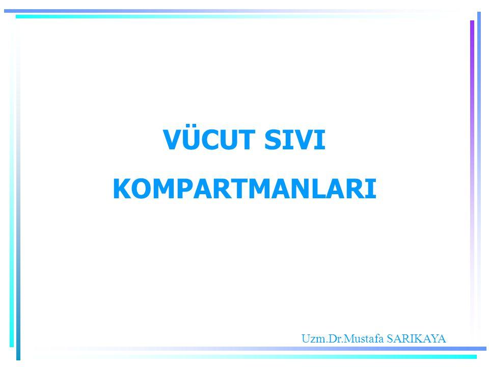 VÜCUT SIVI KOMPARTMANLARI Uzm.Dr.Mustafa SARIKAYA