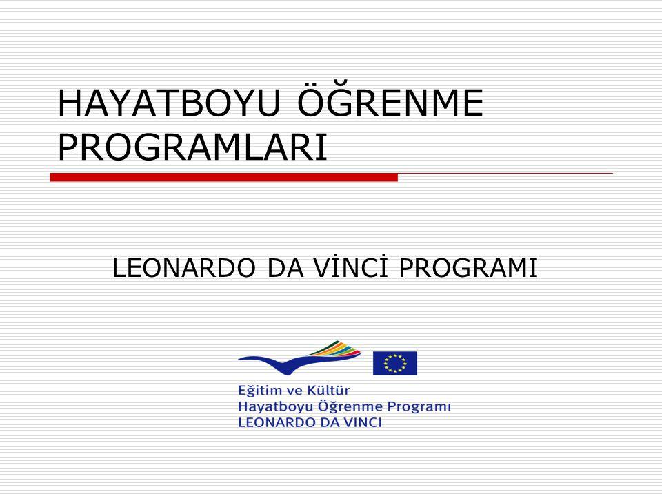 HAYATBOYU ÖĞRENME PROGRAMLARI LEONARDO DA VİNCİ PROGRAMI