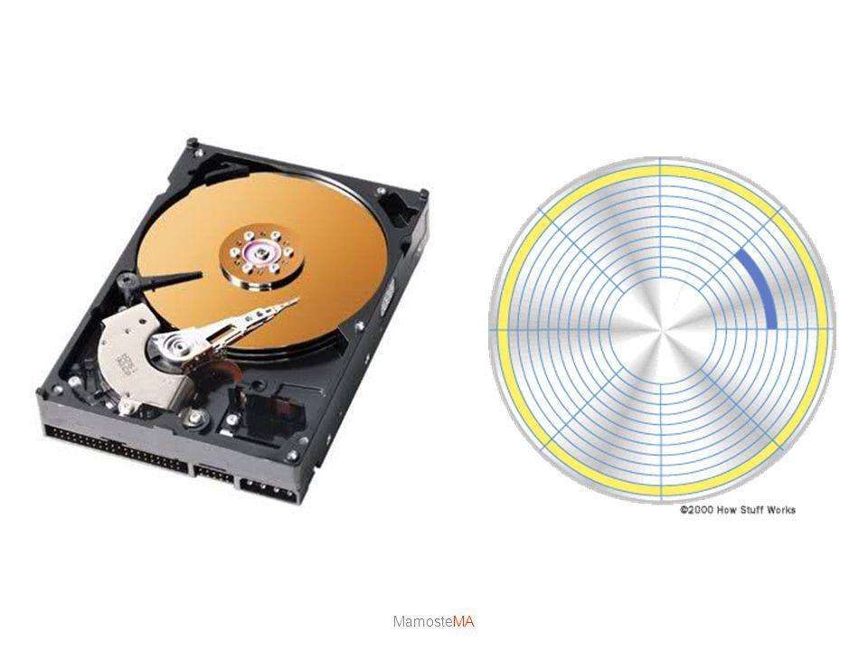 Harddisk (Sabitdisk) Veriler sabit diskteki bu manyetik tabakalar üzerine kaydedilir. Verilerin kaydedilmesinde mıknatıslanma mantığı kullanılır. Mıkn
