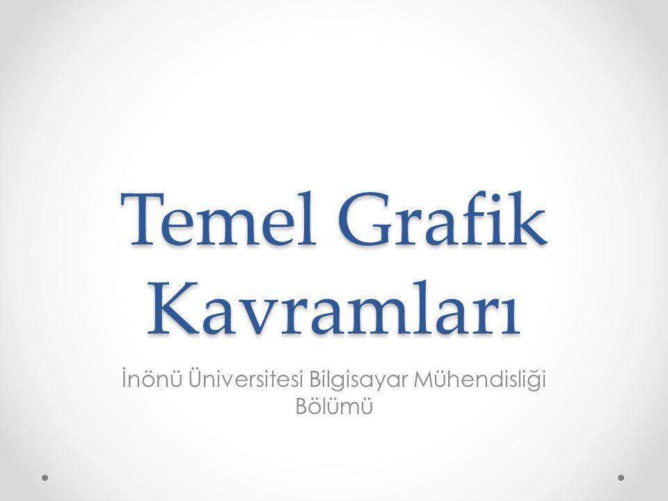 Temel Grafik Kavramları İnönü Üniversitesi Bilgisayar Mühendisliği Bölümü