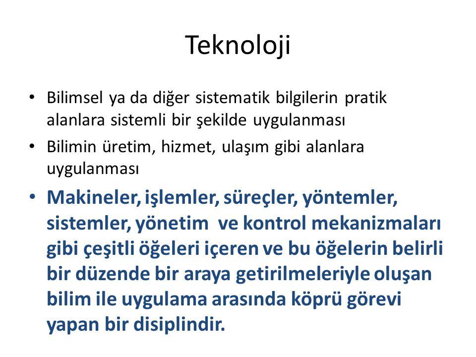 Öğretim kuramları Her teknolojinin sistematik bir bilgisi vardır.