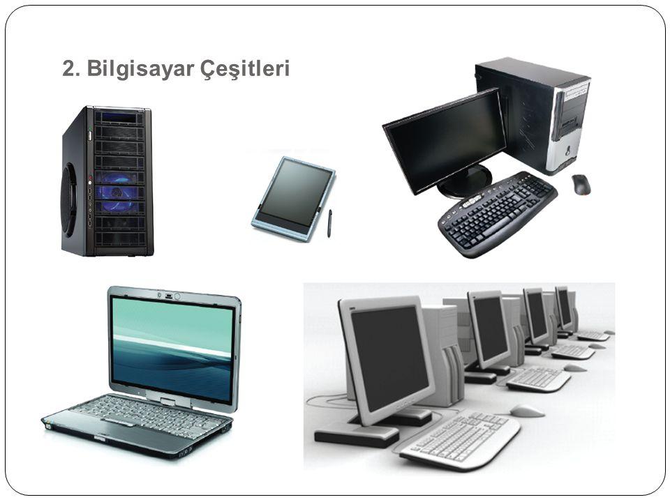Bilgisayarların kullanıldıkları alanlara ve iş ortamlarına göre boyut ve kapasiteleri farklılık göstermektedir.