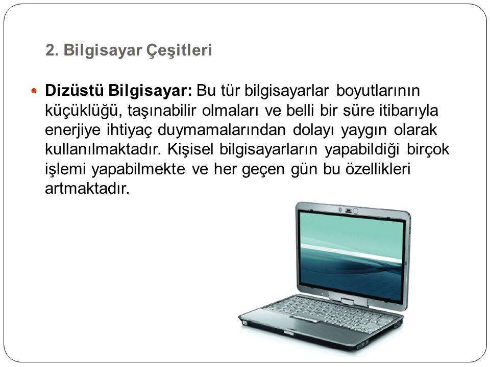 3. Bilgisayarın Temel Donanım Birimleri