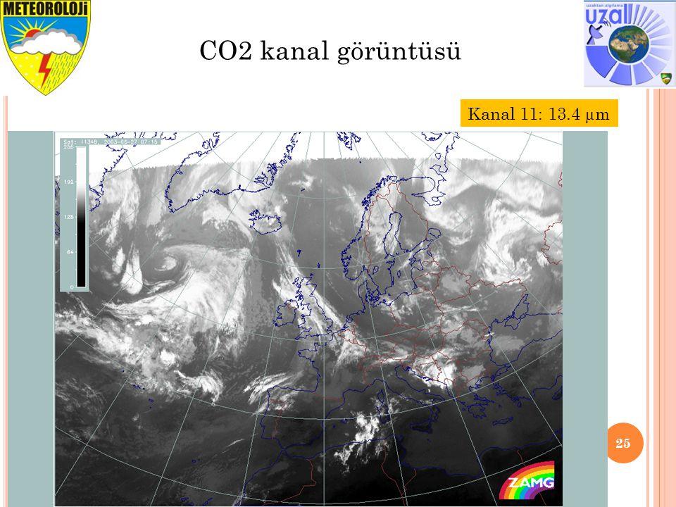 25 CO2 kanal görüntüsü Kanal 11: 13.4 µm