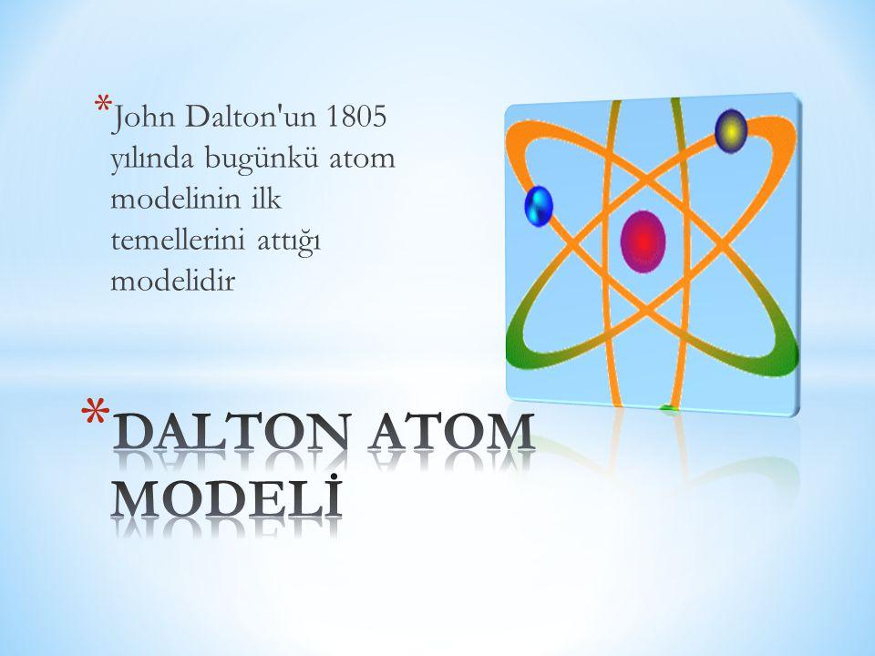 * John Dalton'un 1805 yılında bugünkü atom modelinin ilk temellerini attığı modelidir