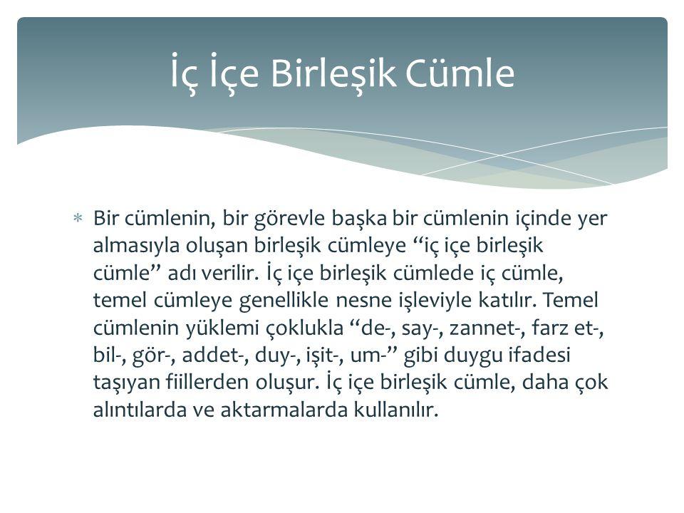  Türkçede söz diziminde kelimelerin sırasını belirleyen temel kural, esas ögenin cümlenin sonuna gelmesidir.
