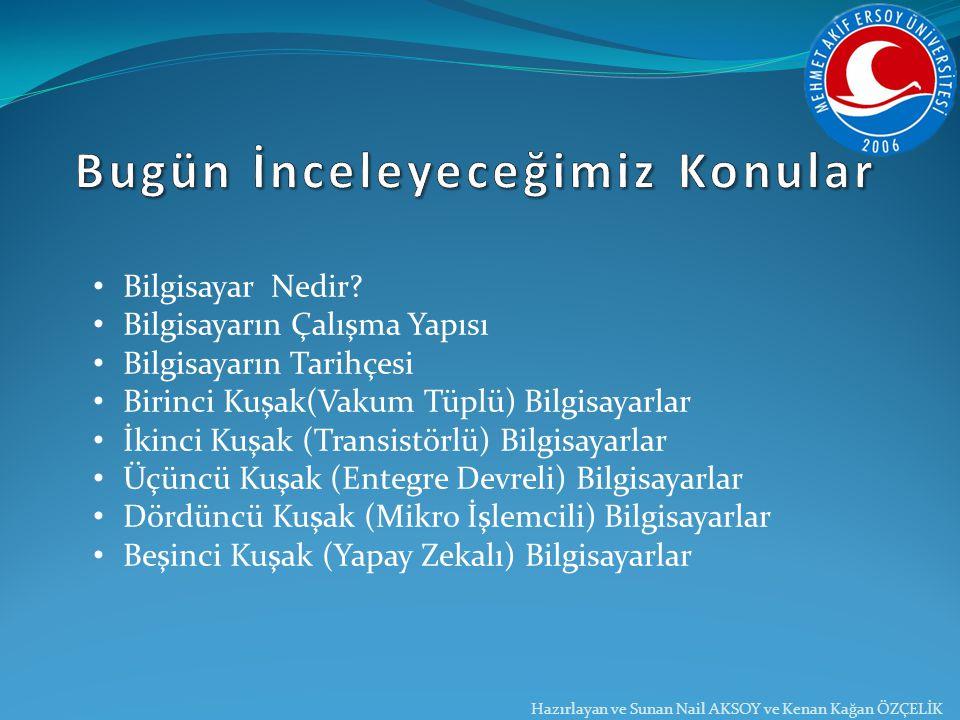 Nail AKSOY www.nailaksoy.net Kenan Kağan ÖZÇELİK www.kenankaganozcelik.com