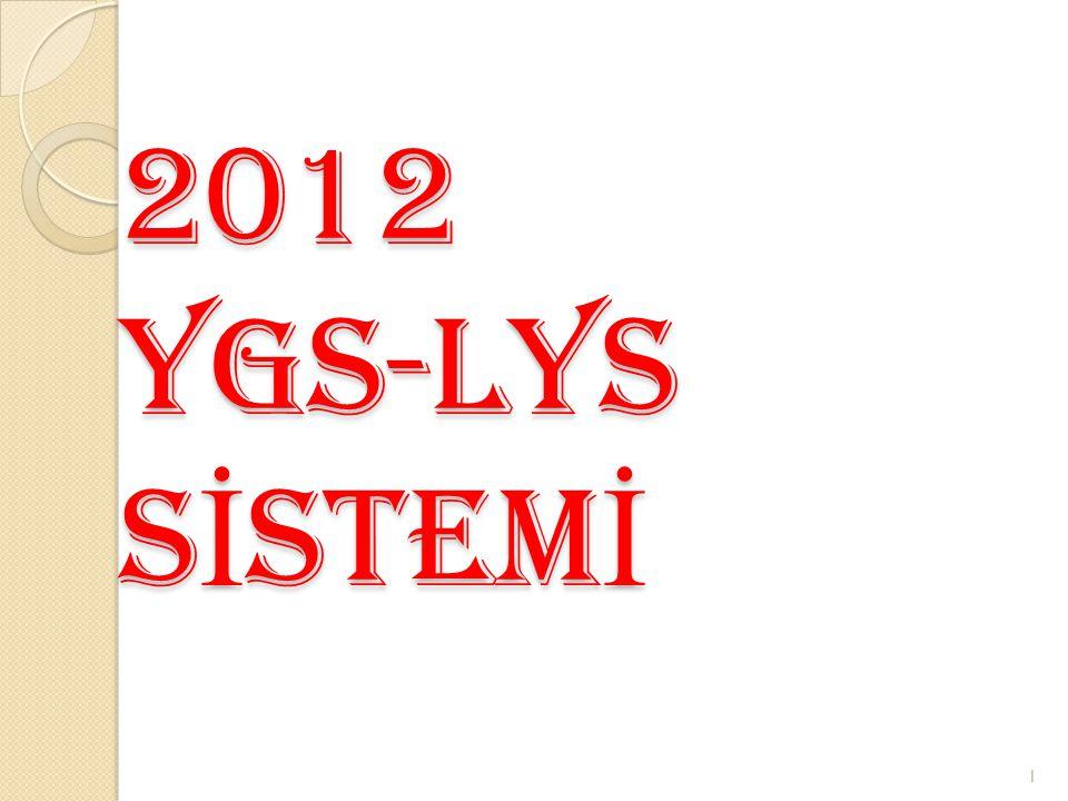 2012 YGS-LYS S İ STEM İ 1