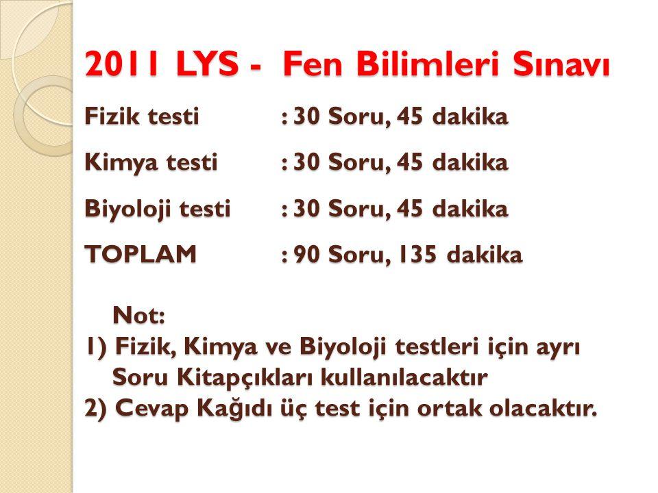 2011 LYS – Edebiyat-Co ğ rafya Sınavı Türk Dili ve Edebiyatı testi :56 Soru, 85 dak.