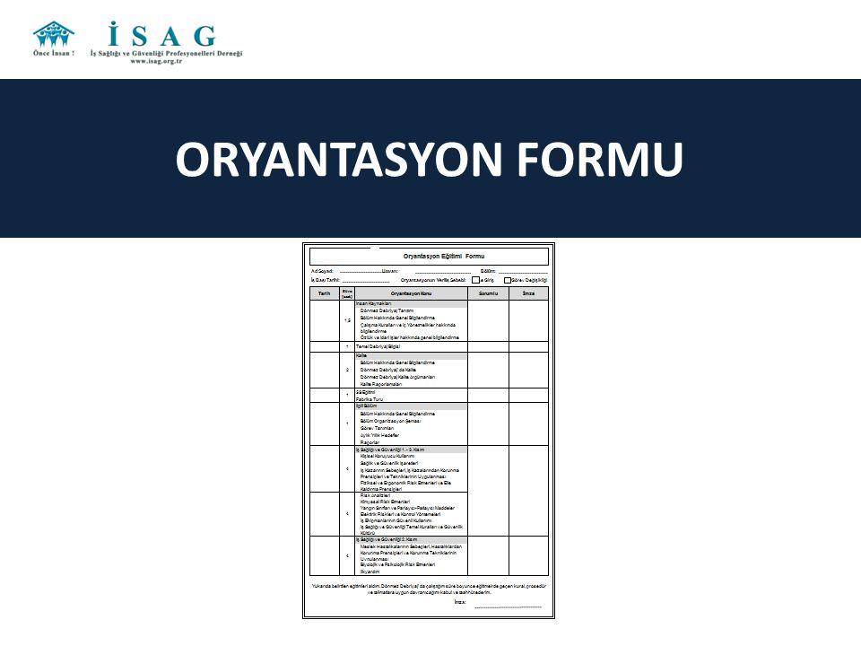 ORYANTASYON FORMU